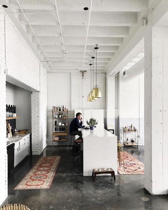 cuisine-blanche-briques-industriel