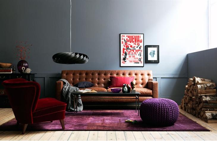 Tendance déco 2012 : Purple, black and leather