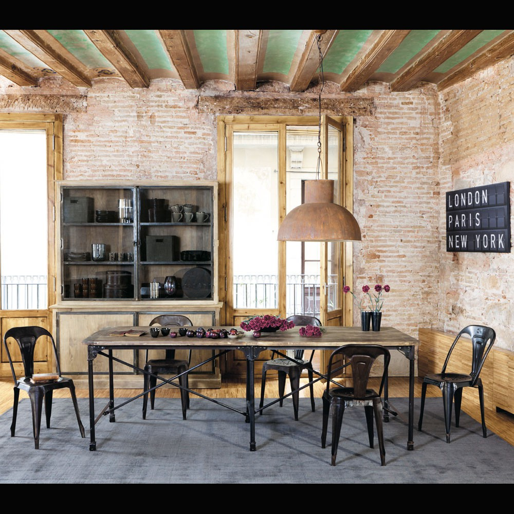 L 39 incontournable style industriel selon maisons du monde for Table de style industriel