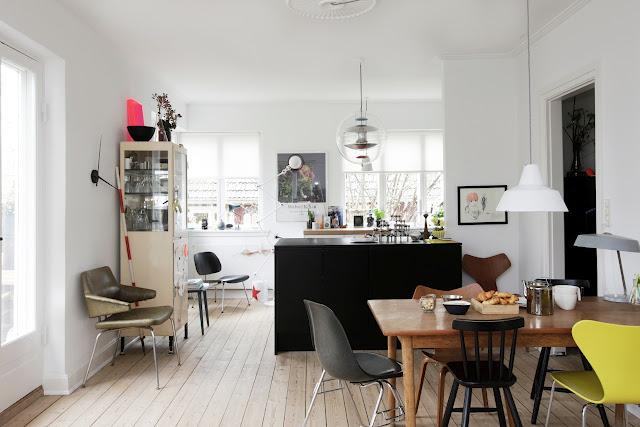 Un appartement créatif au Danemark