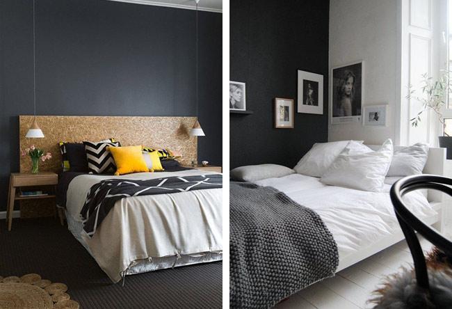 du noir sur les murs blueberry home. Black Bedroom Furniture Sets. Home Design Ideas