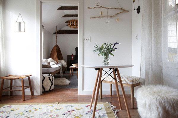 D co ethnique pour un petit cocon blueberry home for Decoration maison france 5