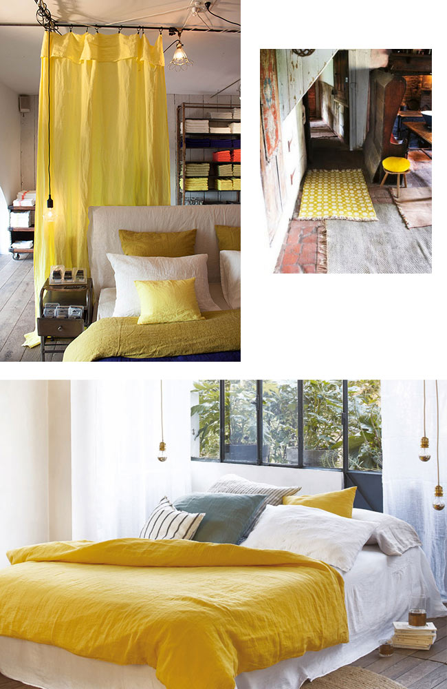 zoom sur le jaune citron blueberry home. Black Bedroom Furniture Sets. Home Design Ideas