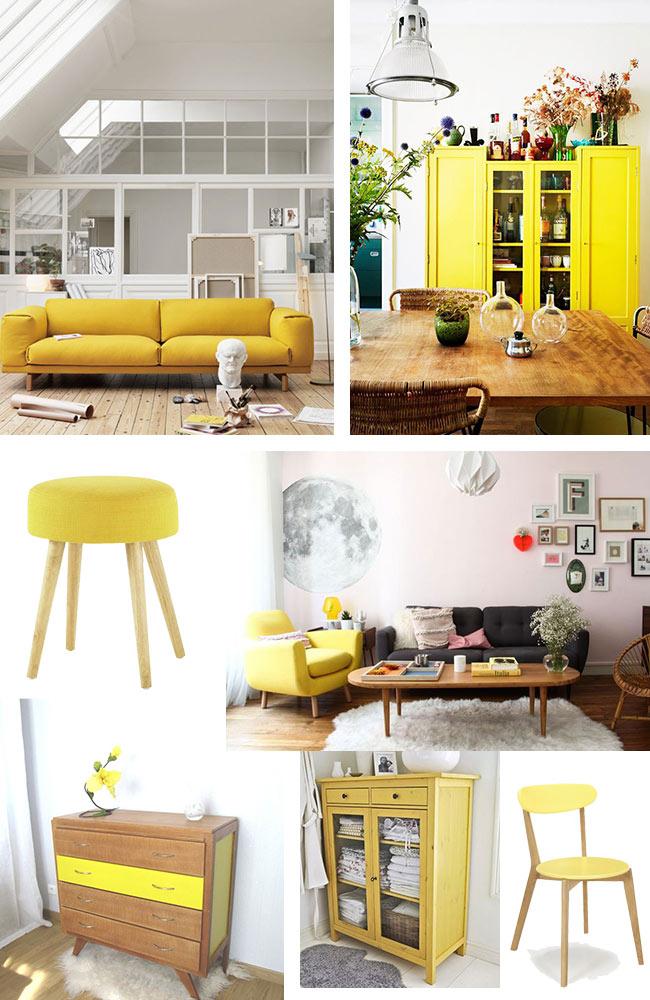 Salon Jaune Citron : Zoom sur le jaune citron blueberry home