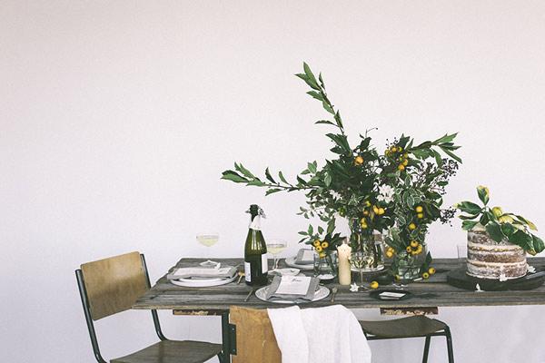 Une table de fête végétale