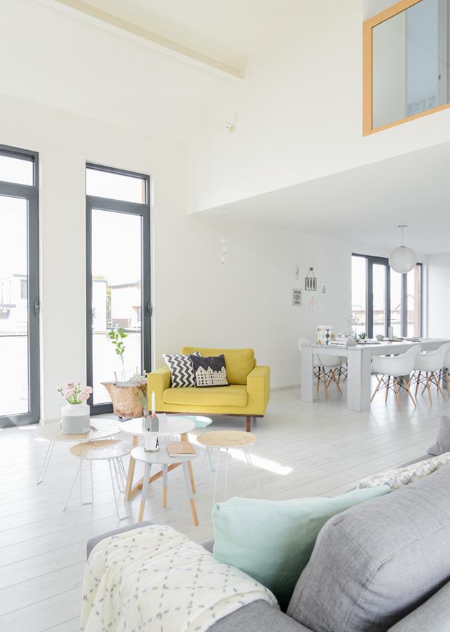 Un int rieur tout en douceur blueberry home for Interieur stylist amsterdam