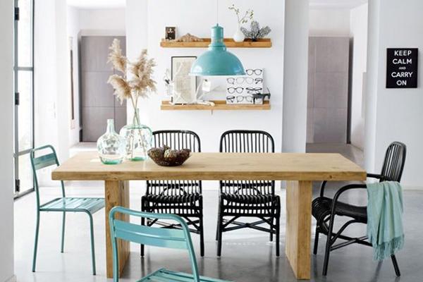 le bleu dans la d co scandinave blueberry home. Black Bedroom Furniture Sets. Home Design Ideas