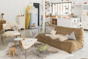 focus sur le canap togo blueberry home. Black Bedroom Furniture Sets. Home Design Ideas