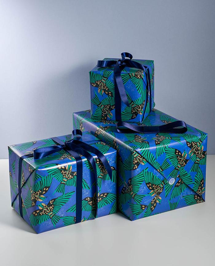 Emballer ses cadeaux avec impression originale blueberry - Emballer un cadeau de facon originale ...