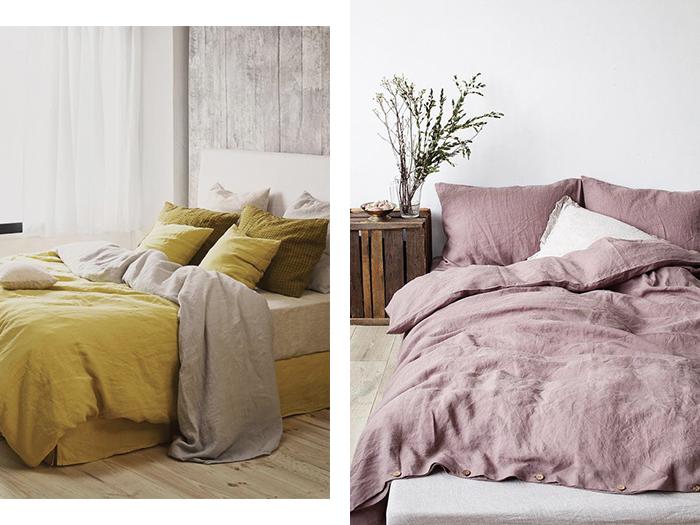 chambre cosy linge de lit lin
