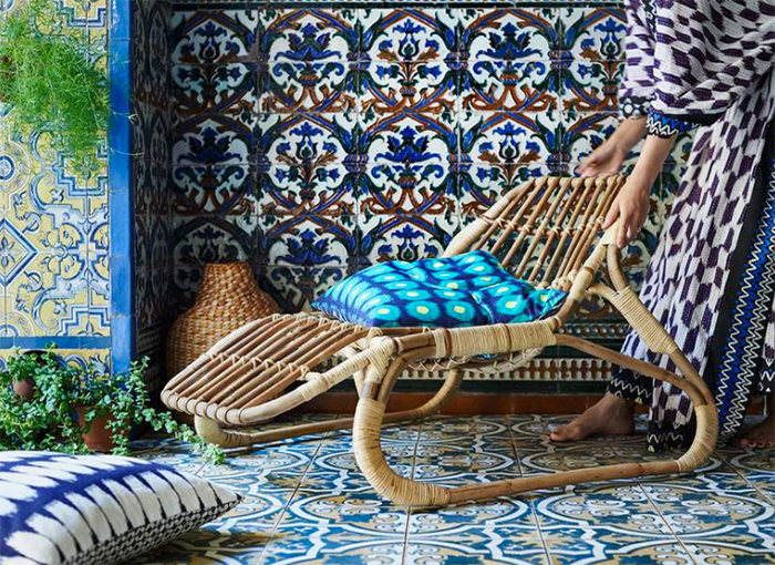 jassa ikea meubles rotin coussins ethniques