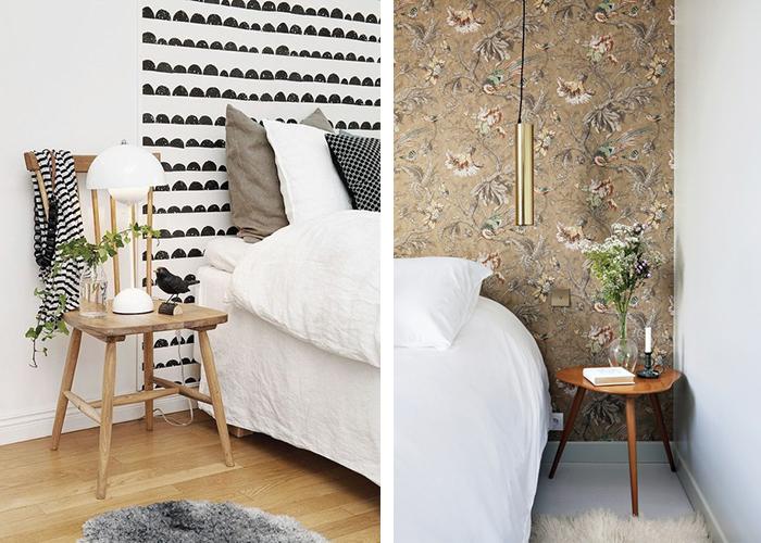 T te de lit retrouvez mes inspirations blueberry home - Tete de lit en papier peint ...