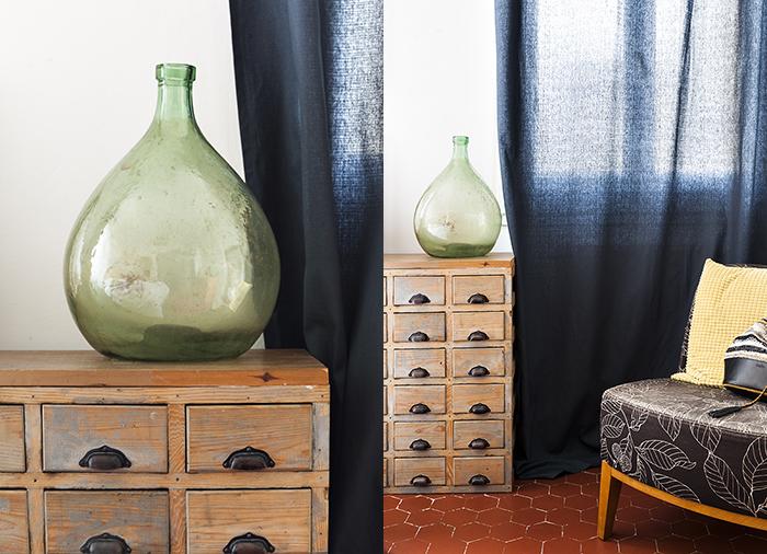 chambre déco vintage meuble chiné