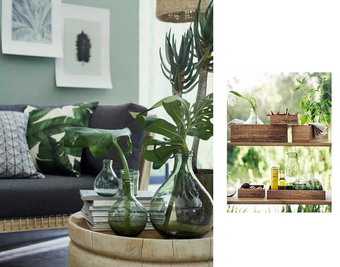 déco tropicale h&m home