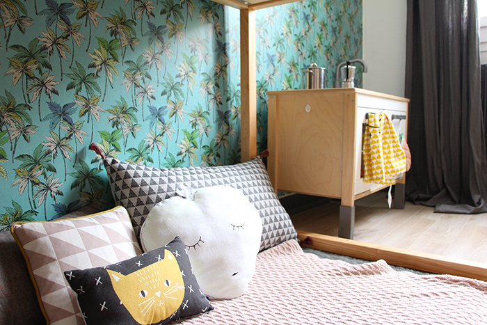 Chambre papier peint chambre enfant papier peint lit ikea for Chambre 3d ikea