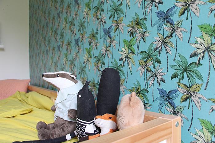 chambre enfant papier peint lit ikea déco