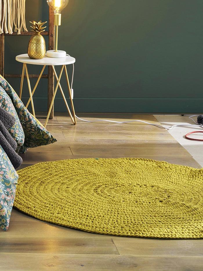 tapis rond crochet déco bohème