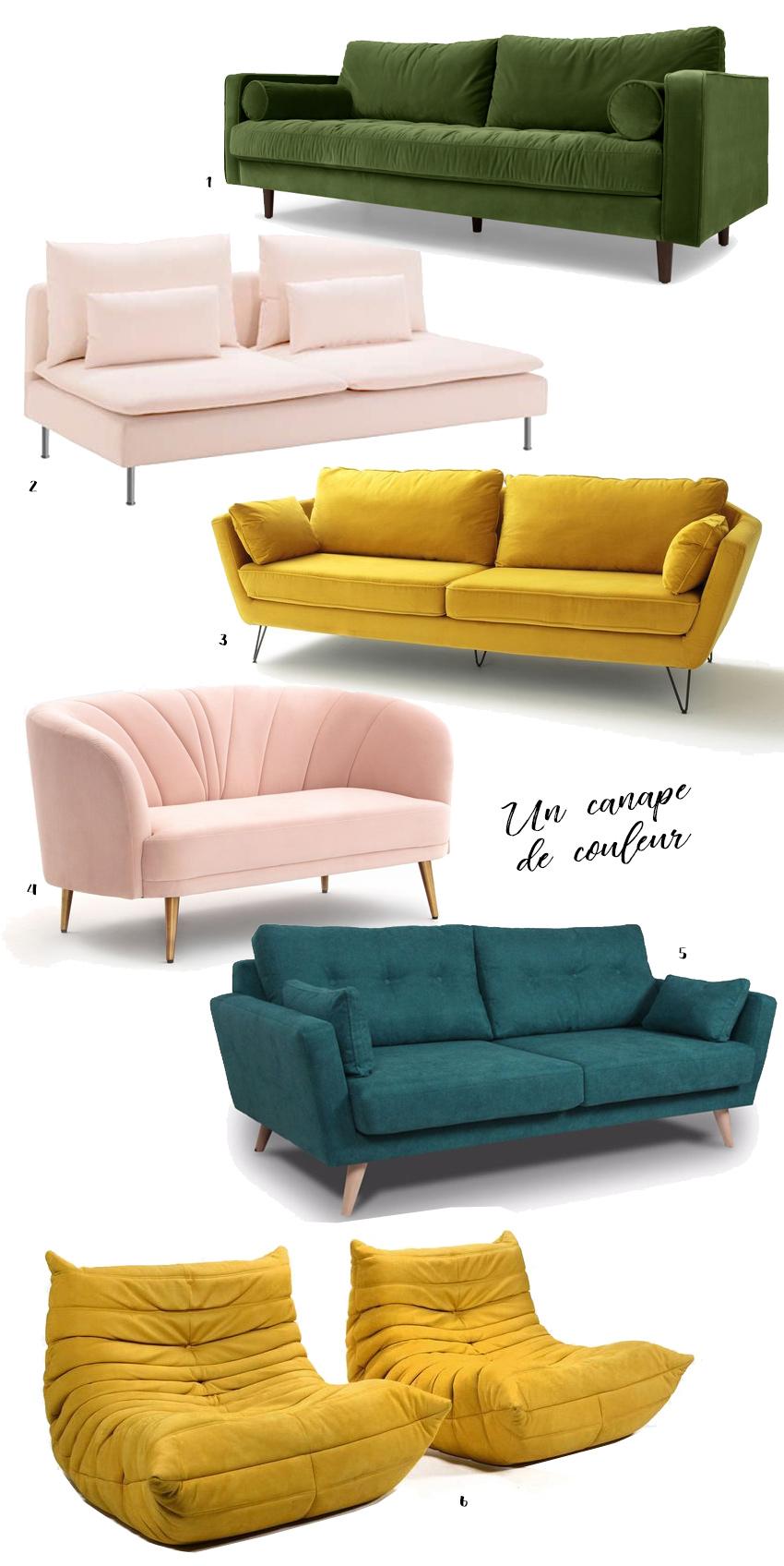 canapé couleurs déco idées