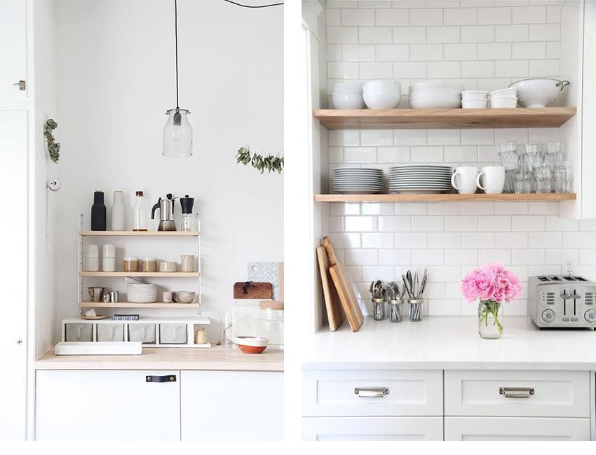 cuisine fonctionnelle étagères