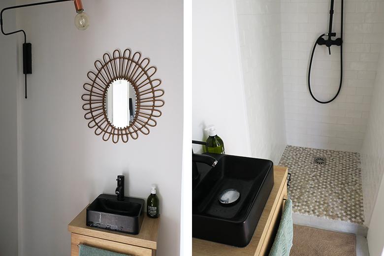 chambre déco salle de bain douche italienne