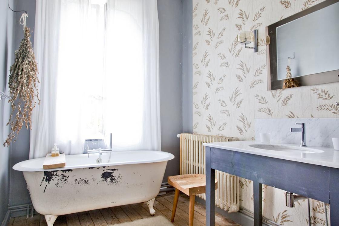 salle de bain baignoire ancienne