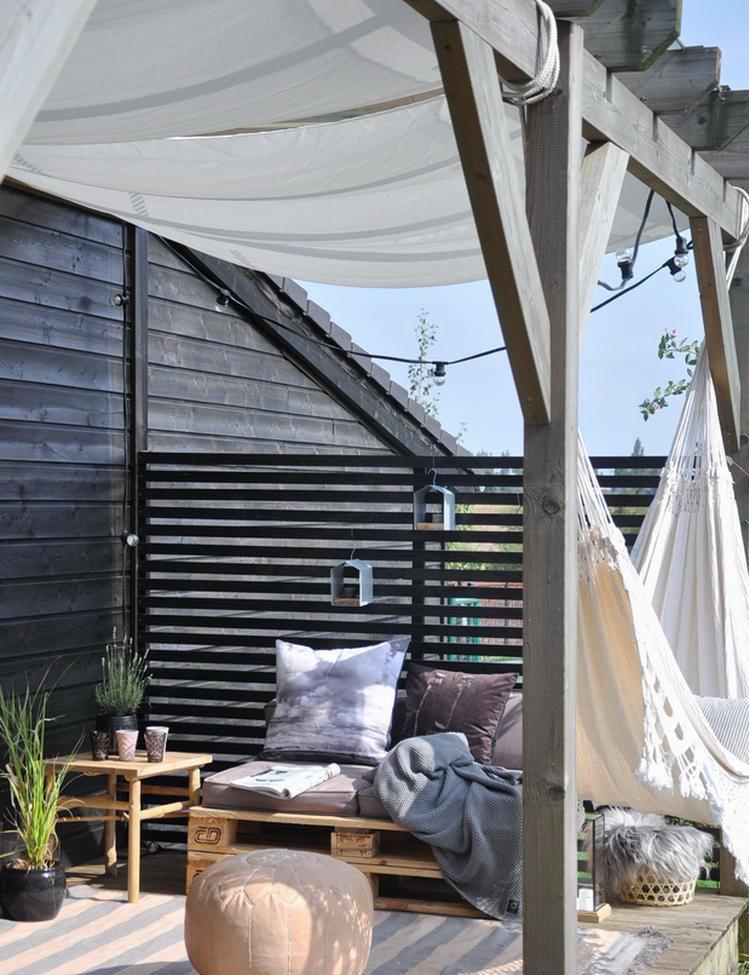 un hamac pour aménager sa terrasse