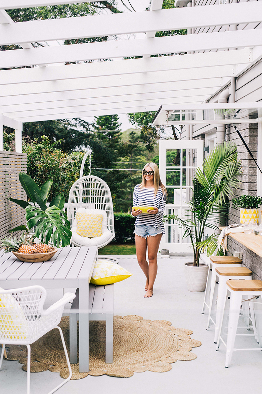 tapis en jute pour aménager sa terrasse