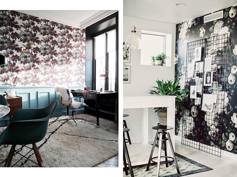 amenager-bureau-papier-peint - Blueberry Home