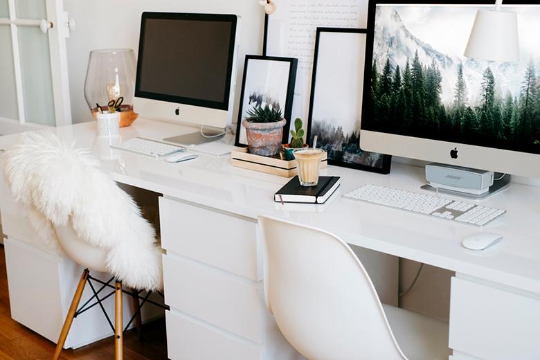 am nager son bureau blueberry home. Black Bedroom Furniture Sets. Home Design Ideas