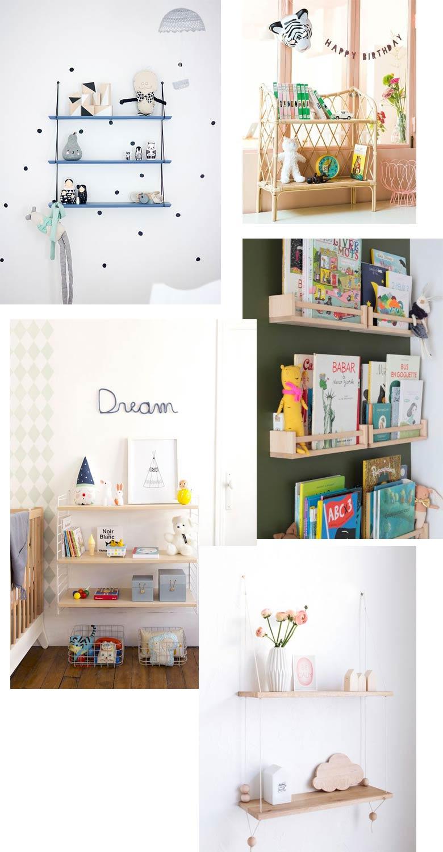chambre d'enfant étagère déco