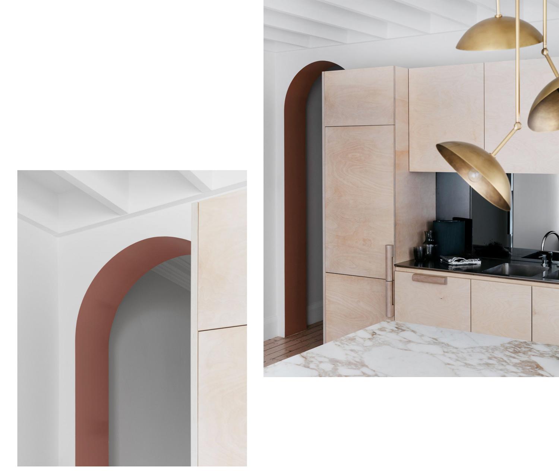 visite privée déco inspiration cuisine marbre et bois
