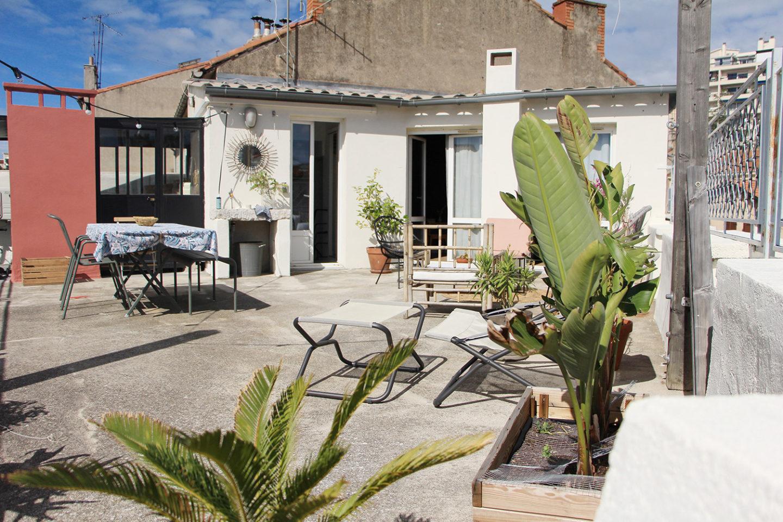 aménagement terrasse décoration peinture extérieure avant après