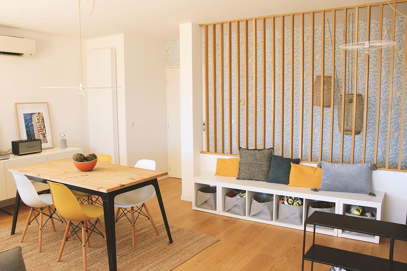avant-après coaching deco duplex moderne marseille salle à manger scandinave