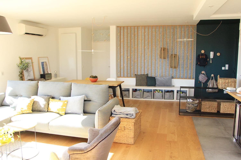 avant-après coaching deco duplex moderne marseille salon scandinave