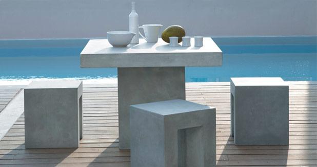 Le b ton cir selon maisons du monde - Table beton maison du monde ...