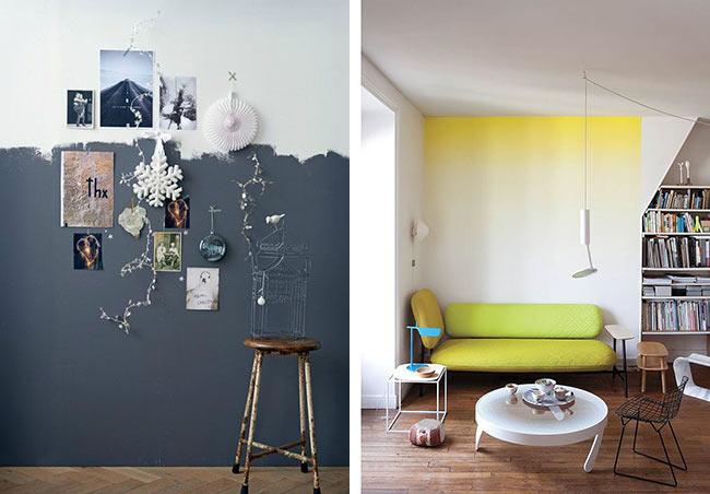 Le miroir un accessoire d co indispensable blueberry - Peindre un mur de couleur dans un salon ...