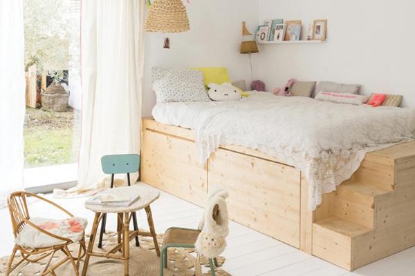 un lit cabane dans une chambre d 39 enfant blueberry home. Black Bedroom Furniture Sets. Home Design Ideas