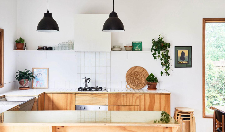 intérieur chaleureux australie cuisine bois et marbre